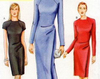 Vogue Pattern 7338 - Misses Easy, Fitted, Mock-Wrap Dress - UNCUT - 8-12