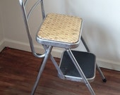 Vintage Folding Step Stool Kitchen Chair Mid Century Lincoln BeautyWare