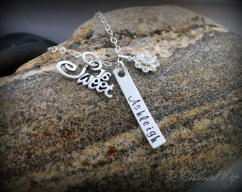 SWEET 16 Birthday GIfts - Hand Stamped Bar Necklace -  Teen Jewelry - Birthday Gift - Personalized GIfts - The Charmed Wife - Personalized