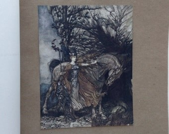 The Rhinegold & The Valkyrie by Richard Wagner. 1910 Limited Edition, Numbered and Signed by Illustrator Arthur Rackham.