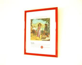 Original Vintage 1957 Coca-Cola Advert Artist Robert Fawcett Framed