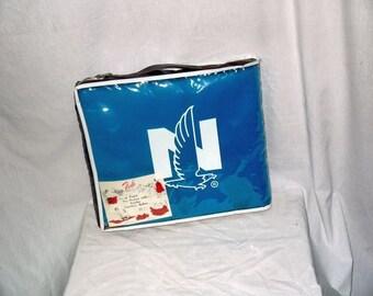 Vintage Faribo lap blanket robe throw / Picnic car stadium beach travel / NOS case / Nationwide give away / 50 x 60