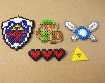 The Legend of Zelda Gift Set - Perler Sprites, Charm, Pin