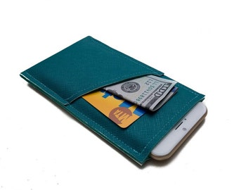 Sleeve for iPhone 7, iPhone 6, iPhone 7 + plus Cover, iPhone 6+ wallet case, iPhone SE Cover - Teal iPhone Case