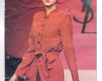 Yves Saint Laurent evening pyjama pattern -- Vogue Paris Original 2180