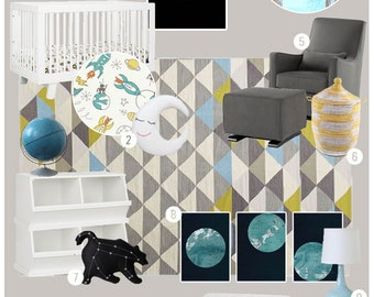 Mood Board. E-Design. Interior Designer. Online Decorator.