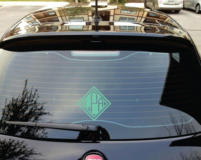 Monogram Yeti Decal or Monogram Car Decal - 35 colors available.