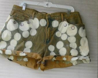 hand dyed shorts plus size 18