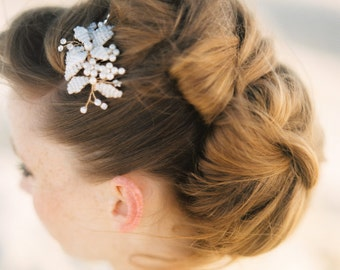 "Hair accessory, Bridal headpiece, Beaded comb, Wedding hair accessory,Style""Vicky small"""