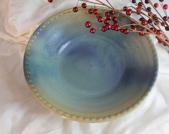Pottery Bowl - green, blue, purple, yellow - Christmas Gift - unique gift