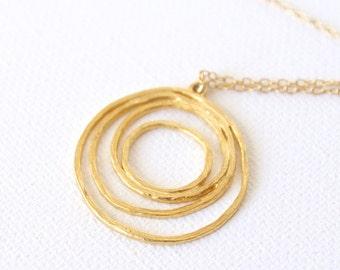 18k Gold Pendant Charm Necklace Gold Necklace