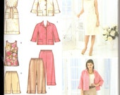 2000's Women's Pants, Dress and Jacket Pattern, Simplicity 3757 Sewing Pattern, Size 10-18