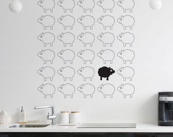 Bah Bah Black Sheep Removable Wall Sticker | LSB0107VCC-TNS