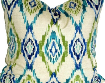 Swavelle/Mill Creek Decorative Pillow Ikat Pillow Cover Accent Pillow 18x18 20x20 22x22 or 14x20 Lumbar Pillow Throw Pillow Pillow Sham