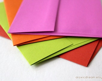 48 Assorted A6 Envelopes - Choose up to 6 colors - 4 3/4 x 6 1/2