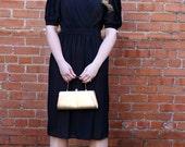 1960's Dress - 60's Vintage Sheer Black Wrap Dress Size 5/6 - By Billy Jack For Her