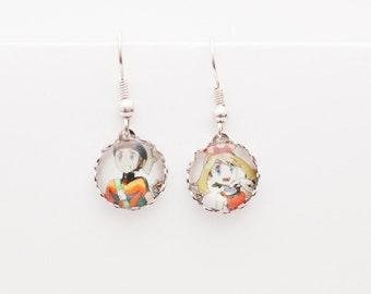 Pokemon earrings - May and Brendan mismatched earrings