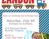 Choo Choo Train 2nd Birthday Party Invitation - You Print OR I Print