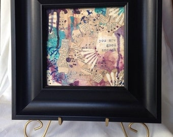 Good Enough Framed Mixed Media Painting on Canvas