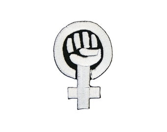 Feminist Iron On Patch Embroidery Sewing DIY Customise Denim Cotton Riot Grrrl