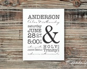 Beautiful Wedding Stats, Valentine's Day Gift - Typography Print by MJDandSupply
