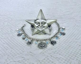 Pisces Charm Bracelet Zodiac Bracelet Horoscope Birthday Gift