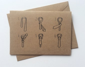 Groomsmen cards / Wedding Party, Gift, Bridal Party, Ringbearer, Thank you, How to Tie a Tie, Best Man card, Groomsman gift