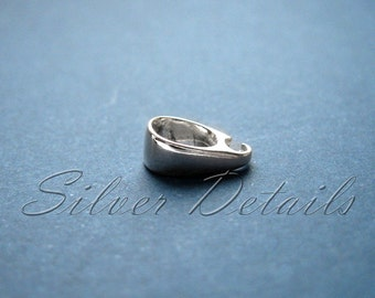 Rounded Small Sterling Silver Bail for Pendant model ES118 1 pcs