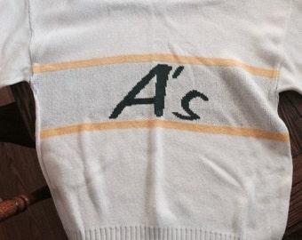 Oakland Athletics Vintage Cliff Engle Sweater LARGE