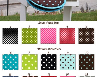 MADE TO ORDER Polka Dots Saddle Bag/Carrier Many Colors