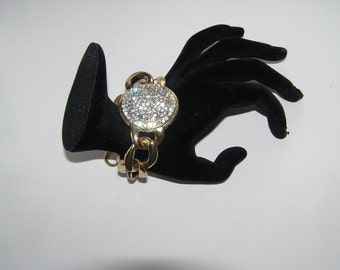 Chunky Vintage Rhinestone Statement Bracelet- Comes in a gift box!