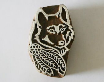 Wolf Stamp - Indian Hand Carved Wood Block