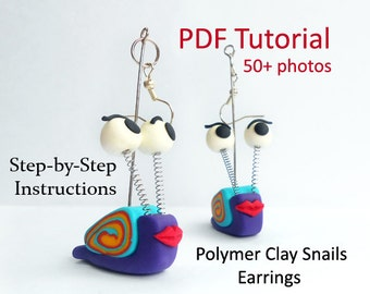 Polymer Clay Tutorial - Snail Earrings