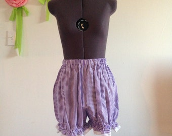 Purple and White Striped Sweet Lolita Bloomers