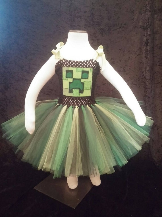 Minecraft Dress Creeper & Minecraft Halloween Costumes Girls will LOVE- Minecraft TUTUS!