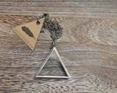 Glass Triangle Locket