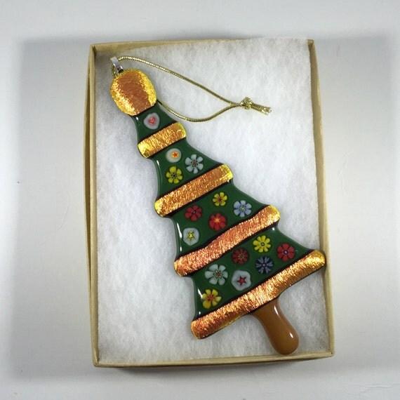 Christmas Tree Ornaments Etsy: Items Similar To Fused Glass Christmas Ornament