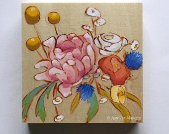 Original art flower bouquet painting wall art home decor - A Bouquet for Whitney