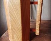 Handcrafted Wood Tankard Mug White Oak and Cherry