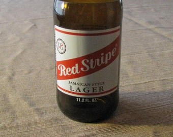Red Stripe beer bottle tumbler