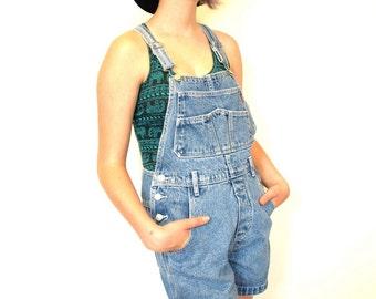 Vintage 80s 90s Jordache denim Jean shorts overalls size XS or S