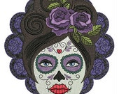 Sugar Skull Patch - Iron On - Day of the Dead, Goth, Punk, Rockabilly, Psychobilly - Poofhawk