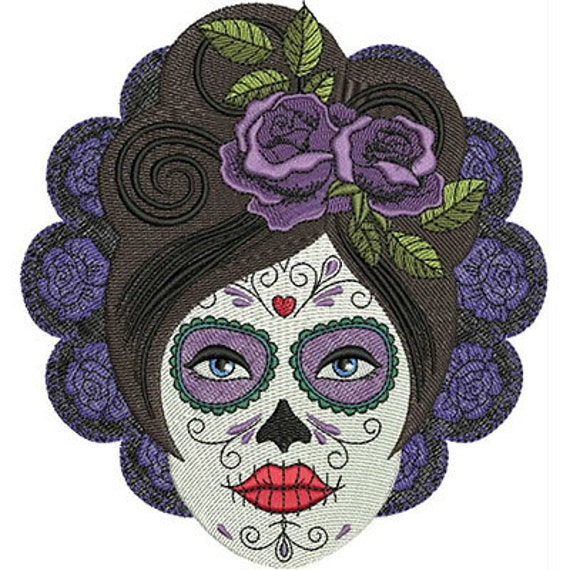 Sugar Skull Patch Iron On Day of the Dead Goth Punk by ...