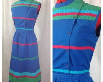 Gitano 2 Piece Sun Dress 1980s S/M