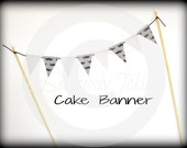 Cake Banner-Cupcake banner-paper banner-paper garland-birthday banner-Little Man Party-Baby Shower Cake Topper-Birthday Cake Bunting