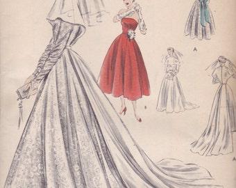 1950s Wedding Dress Pattern Vogue Special Design 4118 Size 12 Uncut