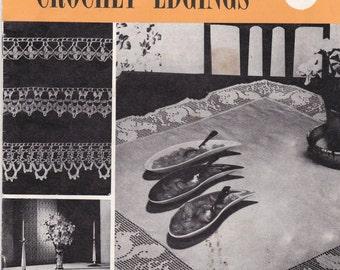 Paragon Crochet Edges Designs  - Vintage 1960s Crochet Booklet