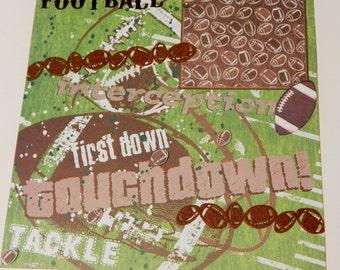 12x12 Premade Scrapbook Layout- Football