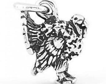 Sterling Silver Wild Turkey Charm