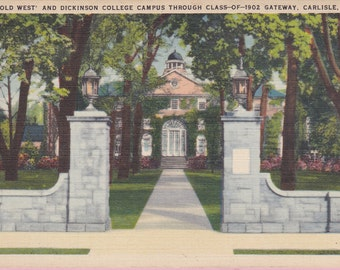 "Ca. 1920's ""Dickinson College"" Carlisle, PA Topographical Picture Postcard - 1707"